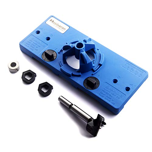MOSILVERON 35mm Concealed Hinge Jig kit, Suitable for Face Frame Cabinet Cupboard Door Hinges (Dark Blue)