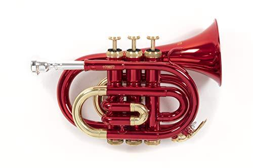 Roy Benson Rb701004 Tromba Pocket in Sib Pt-101R, Astuccio Rettangolare, Rosso