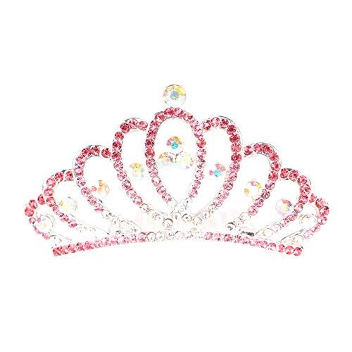 PULABO - Peineta para el pelo de la corona pequeña para boda,...
