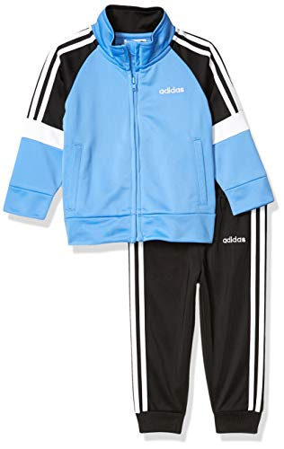 adidas Baby Boys Tricot Jacket and Jogger Pant Set, Real Blue, 3 Months