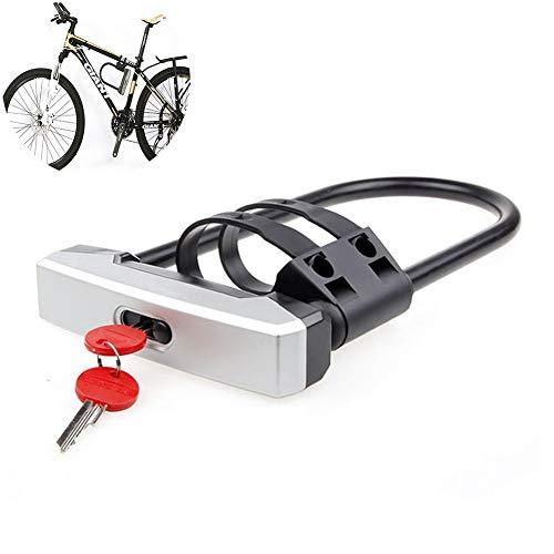 PIANAI Fahrrad Bügelschloss Mit Halterung Fürs Rennrad Mountainbike E-Bike Klapprad Großartige Sicherheitsvorrichtung Fürs Fahrrad