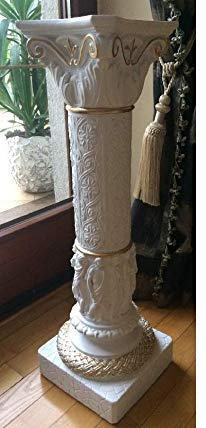 JV Moebel 1003 - Columnas griegas de Estilo Antiguo, diseño de Flores kolumne
