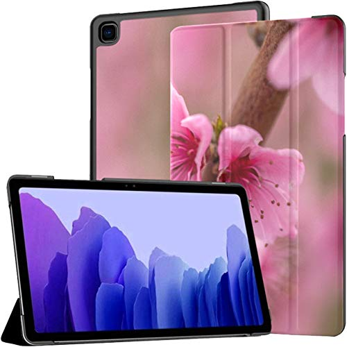 Garden Pink Spring Peach Flower On Tree Branch Tablet With Case Galaxy Tab A7 10.4 Inch Samsung Tablets Case Tablet Cases With Auto Wake/sleep Fit Galaxy Tab A Case For Galaxy Tab A7 Sm-t500