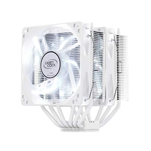 DEEP COOL NEPTWIN Blanco, Disipador de CPU, 6 Tubos de Calor, Doble Torre, 2 * 120 mm CPU Ventiladores, Color Blanco