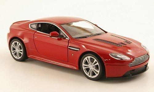 Aston Martin V12 Vantage, met.-rot, 2010, Modellauto, Fertigmodell, Welly 1:24