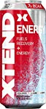 Scivation Xtend Energy On The Go Carbonated Zero Sugar Energy & Recovery Drink, Branched Chain Amino Acids + Caffeine, BCAAs, Ultra Frost, 16 oz Cans (Pack of 12)