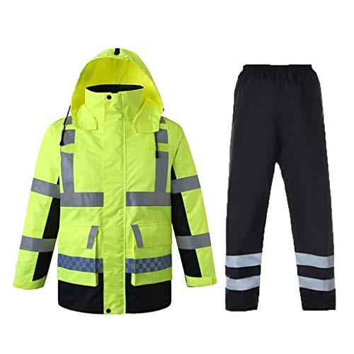 Veste en Coton réfléchissante d'hiver en Coton réfléchissant épais pour la sécurité routière (Taille : XXXL)