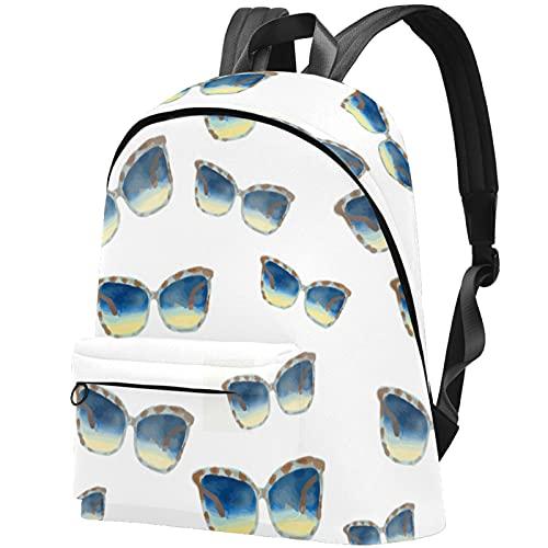LAZEN Mochila clásica escolar Mochila de viaje ligera Mochila para computadora portátil para mujeres Hombres Gafas de sol
