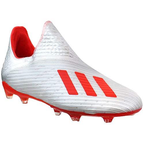 adidas X 19+ FG Cleat - Kid's Soccer Silver Metallic/Hi Res...