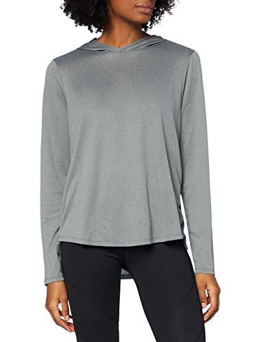 Marca Amazon - AURIQUE Sudadera con Capucha de Deporte Mujer, gris, 42, Label:L