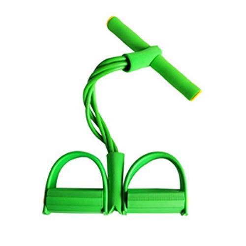 Bandas De Resistencia 4 cuerdas de extracción elástica para ejercitantes Bandas de resistencia al vientre Set Home Gym Capacitación deportiva Banda elástica para equipos de fitness ( Color : Green )