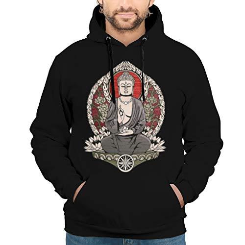 NeiBangM Herren Basic Hoodie Buddhism buddhahood Siddhartha budai (1) Slim Pullover Für Jugenden White s