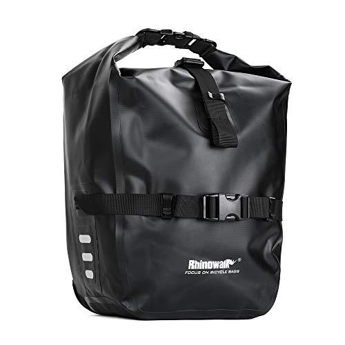 Volkcam Fahrradtasche 20L Packsack Fahrradtasche für den Rücksitz wasserdichte Aufbewahrungstasche für Fahrräder mit Gummigriff - Schwarz