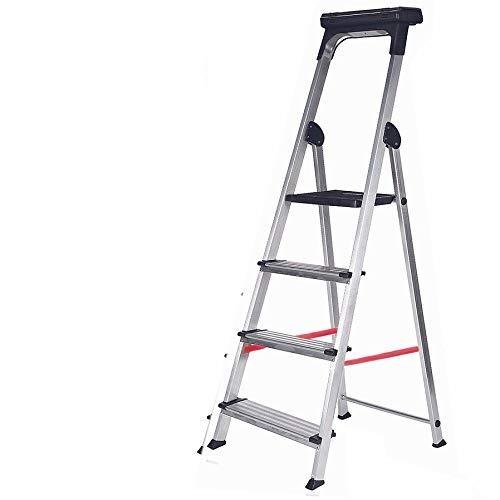 Escalera Ancha de Aluminio ELITE PLUS (4 Peldanos). BTF-TJB4