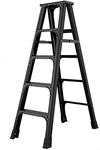 Taburetes con peldaños antideslizantes, escalera de extensión telescópica Escalera de retracción de un botón de aluminio Escalera extensible Escalera industrial plegable para loft Escalera multiusos p