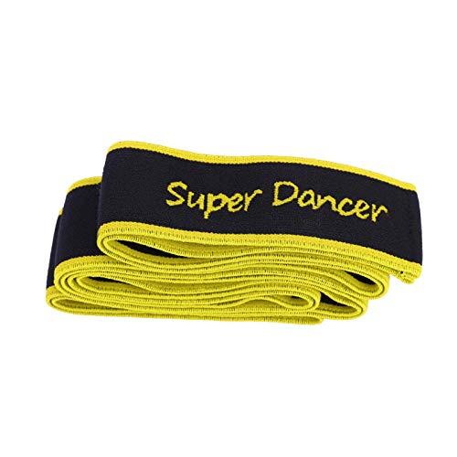 Caiqinlen Banda de Estiramiento de Danza, Banda de Resistencia de Yoga fácil de Transportar, Desarrollo equilibrado para Jugadores para entusiastas del Aire Libre(Yellow)