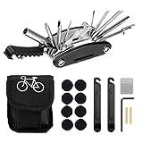 Booding Kit de Herramientas para Bicicletas, reparación de pinchazos de Bicicletas, Multiherramienta, Barra de Acoplamiento y Parche para neumáticos