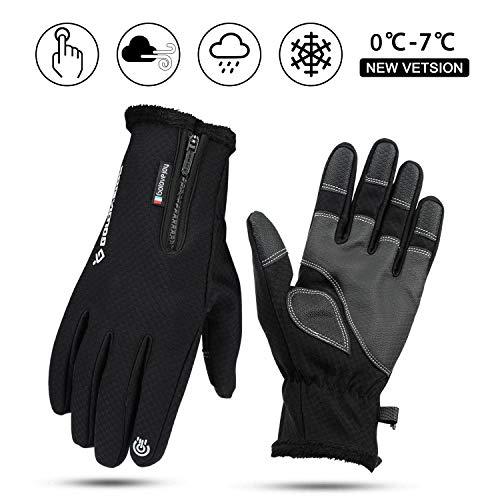 BIFY Touchscreen Handschuhe fahrradhandschuhe Winddicht Wasserdicht Warm Handschuhe rutschfest Laufhandschuhe für Männer und Frauen Geeignet für Outdoor-Sportarten im Frühjahr Herbst und Winter