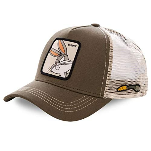 Cartoon Anime Snapback Baseball Cap Men Women Hip Hop Dad Mesh Trucker Hat -BUNNY BROWN