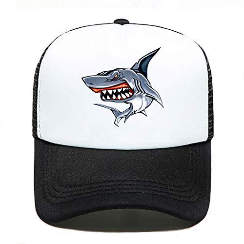 Baseball Kappe Hai bunt lustig drucken Baseball Cap Casual Männer Frauen Eltern-Kind Hüte Mesh Visier Outdoor verstellbare Sonnenhut