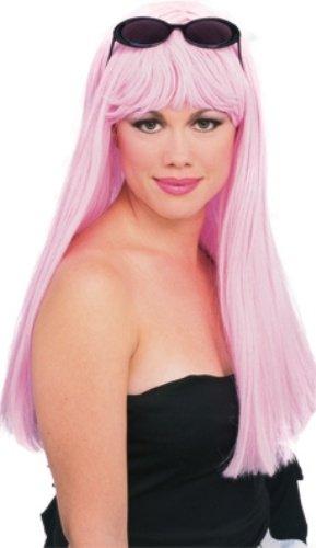 Rubie's – Glamour Perruque Officielle Rose Clair Taille Unique Adulte