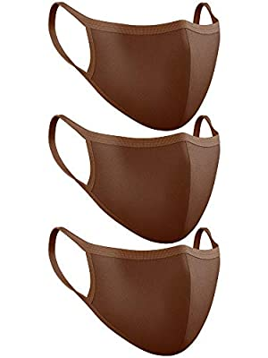 Love My Fashions® Plain Cotton Reusable Comfy and Lightweight Unisex Face Mask Brown