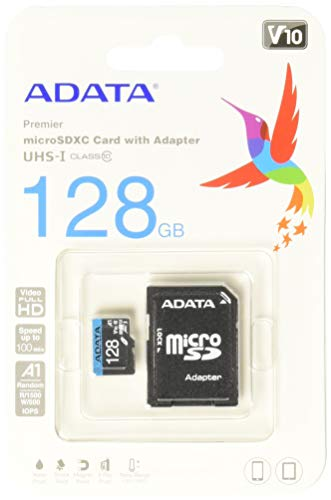 A-DATA Technology microSD Premier 128GB UHS1/CL10/A1+Adapter 1