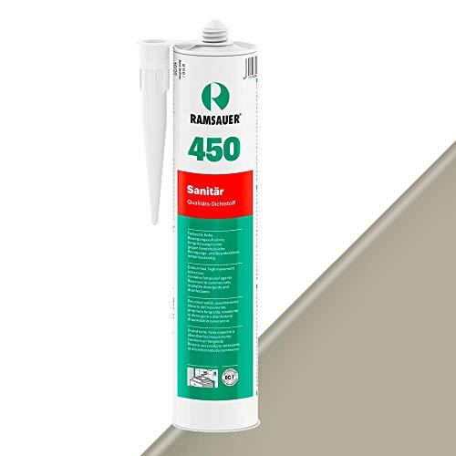 Ramsauer 450 Sanitär 1K Silikon Dichtstoff 310ml Kartusche (Sandgrau)