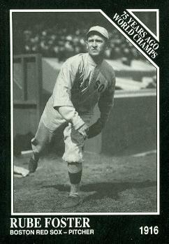 Rube Foster Baseball Card (Boston Red Sox) 1991 Sporting News Conlon Collection # 138