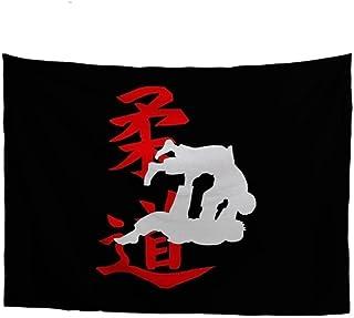 Judo Japonais Noir Plaid Couverture Polaire en Flanelle 3D épaisse Douce Peut être Utilisée comme Draps Lit Couverture béb...