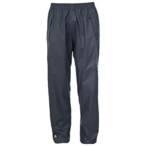 Trespass Qikpac Pant, Flint, L, Kompakt Zusammenrollbare Wasserdichte Regenhose mit 3 Taschenöffnungen für Damen und Herren / Unisex, Large, Grau