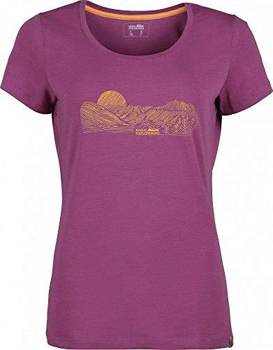 High Colorado Garda 5 T-shirt à manches courtes pour femme Gris kiss 2020 40 Grape Kiss