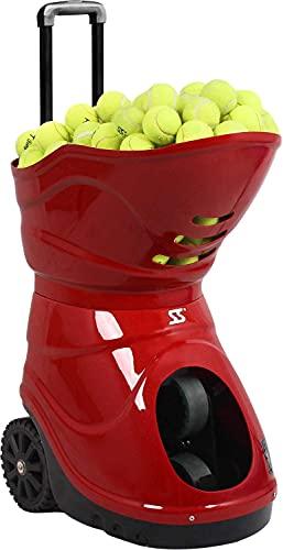 SKYEGLE Máquina de pelota de tenis electrónica, lanzador de pelotas de tenis portátil, equipo de práctica automático, disparador de bolas con control remoto para principiantes entrenamiento - W5