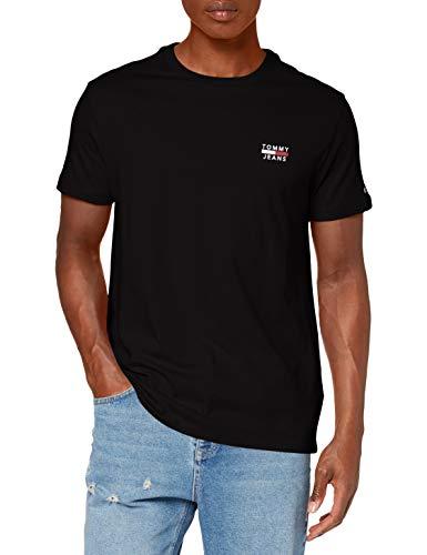 Tommy_Jeans Herren TJM Chest Logo Tee T shirt, Schwarz (Black), XX-Large