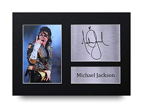 HWC Trading Michael Jackson A4 Sin Marco Regalo De Visualización De Fotos De Impresión De Imagen Impresa Autógrafo Firmado por Aficionados A La Música