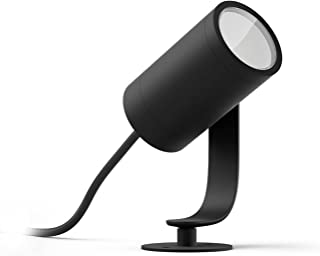 Philips Hue Lily Tuinspot 1-Lichts Uitbreiding - Buitenlamp - IP65 - Duurzame LED Verlichting - Wit en Gekleurd Licht - Di...