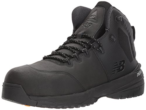 New Balance Men's Composite Toe 989 V1 Industrial Shoe, Black/Black, 18 XW US