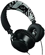 House of Marley EM-JH023-MI Midnight On-Ear Headphones with three-button controller