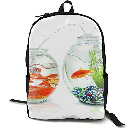 Aquarien Fische weißer Hintergrund Stachel Algen Kiesel Schulrucksack Schulrucksack Büchertasche Reise Laptop Rucksack Casual Daypack für Kinder Studenten Erwachsene
