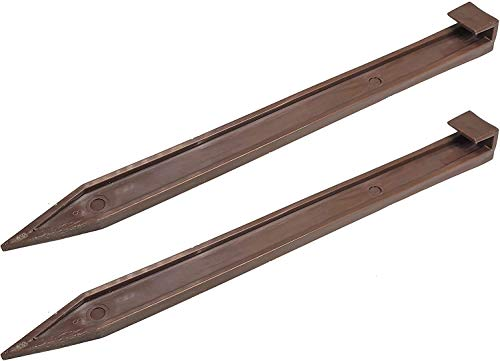 One Stop Outdoor (50 Pack) Brown Nylon Landscape Edging Anchoring Plastic Ground Stakes, 10-Inch Length Brown Garden Edging Spikes, USA Made - (Fits Most Brands EasyFlex Dimex Proflex) (50)