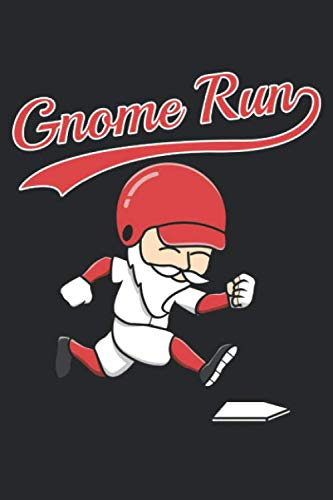 Gnome Run: 6x9 Zoll ca. DIN A5 Football Notizheft leer | 120 Seiten leeres Football Notizbuch für Notizen in Schule, Universität, Arbeit oder zuhause. | Eine tolles Geschenk für Ihre Liebsten.