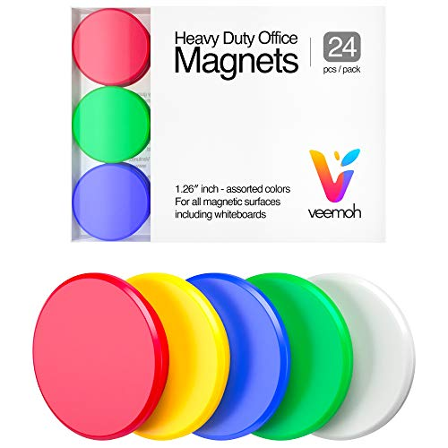 24piece Veemoh Heavy duty Office magnets pack  Office Kitchen Refrigerator Whiteboard magnet set