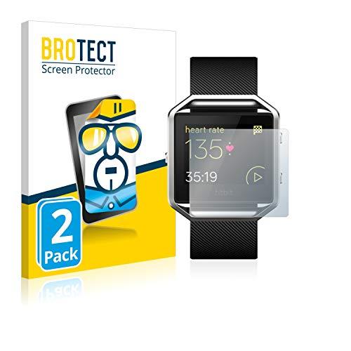 BROTECT Schutzfolie kompatibel mit Fitbit Blaze (2 Stück) klare Bildschirmschutz-Folie