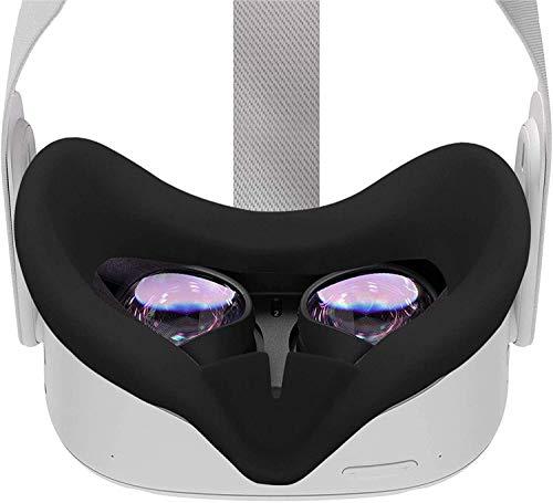 Oculus Quest 2フェイスクッションカバー やわらかい防汗アイパッド入り 洗える快適な漏れ防止アイマスクユニセックスアイパッド(Black)