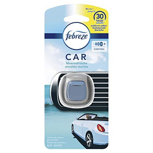 Febreze Auto Lufterfrischer (2 ml) Meeresfrische, Auto Duft gegen Gerüche
