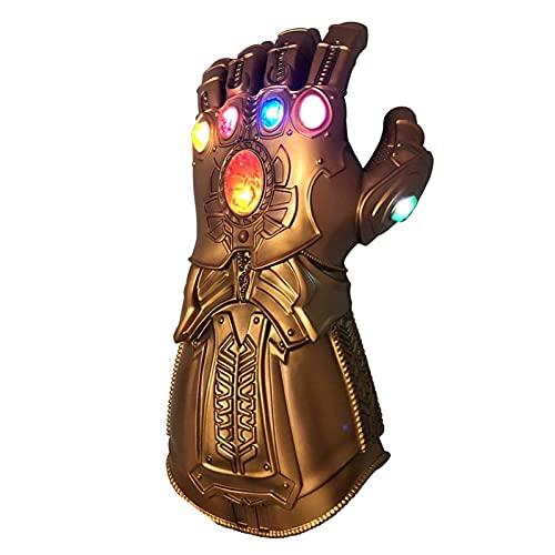 Kinder/Erwachsene Thanos Handschuhe Infinity Gauntlet mit LED-Licht Cosplay Kostüm Zubehör Child