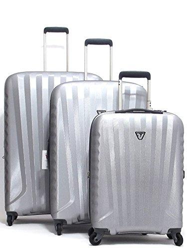 Roncato set tre trolley viaggio, Uno Zip 5081-25 policarbonato, grigio CNOR