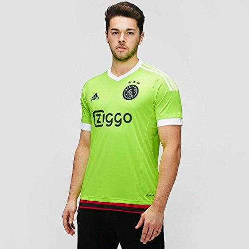 adidas Herren Trikot Ajax Replica Spieler-Auswärts, Solar Green/White/Black, XL