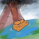 Watch It All Burn from the Lake on Our Inflatable Sofa