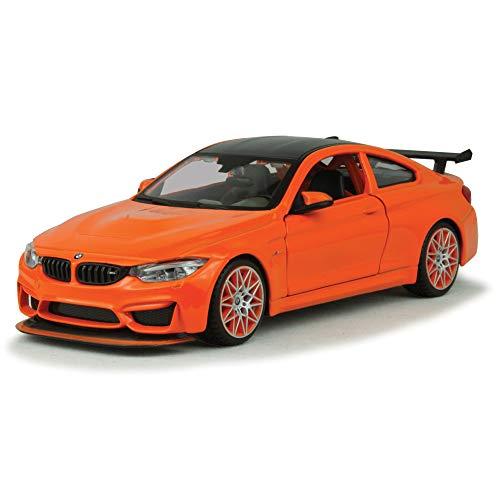 BMW M4 GTS Orange with Carbon Top and Orange Wheels 1/24 Diecast Model Car by Maisto 31246
